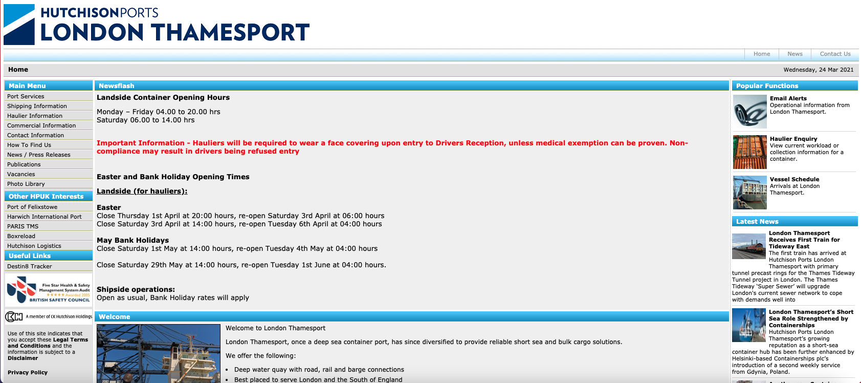 Thamesport Website